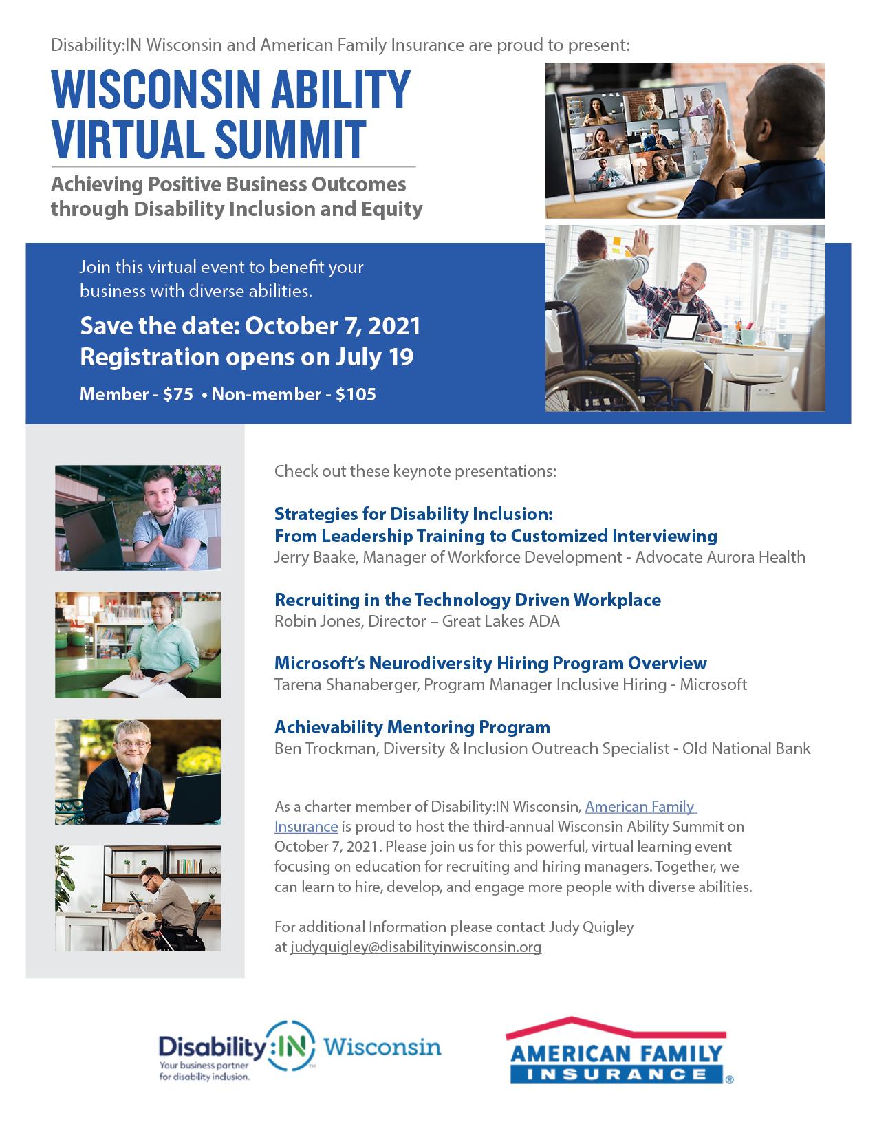 Wisconsin Ability Summit flyer